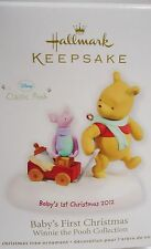 HALLMARK 2012 Baby's First Christmas Winnie the Pooh Collectible Ornament New