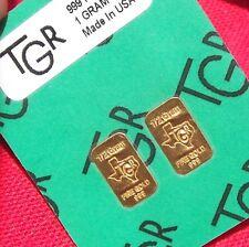 1 GRAM GOLD 24K PURE TGR BULLION BARS 999 THE IDEAL PREPPER COMBO DOUBLE HALVES