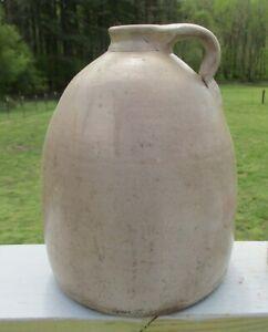 Antique 1800's Primitive Bee Hive Stoneware Jug 1 Gallon Whiskey VA Farm Made