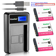 Kastar Battery LCD Charger for Sony NP-FT1 FT1 & Sony Cyber-shot DSC-T5/B Camera