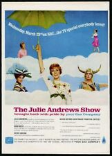 1966 Julie Andrews photo 5 in color NBC TV show special vintage print ad