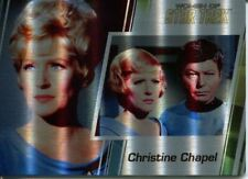 Star Trek Women Of 50th Metal Parallel Base Card #8 Christine Chapel and Dr. M