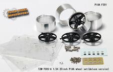 "1/24 20"" PIAA F301 wheels - T2M-7005-A for Fujimi, Aoshima, Revell & Tamiya"