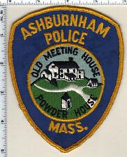Ashburnham Police (Massachusetts) Shoulder Patch - from 1985