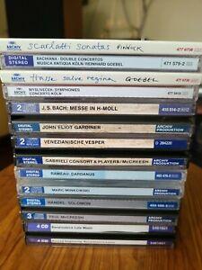 9x LOT Archiv Produktion Classical Opera CD Handel Bach