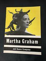 Vtg MARTHA GRAHAM & DANCE COMPANY Souvenir Program ERICK HAWKINS Tour 1948-49