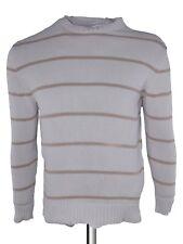 zara maglione felpa uomo bianco righe taglia eur m medium