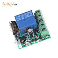 Wireless Relay One Channel 12V RF 433Mhz Remote Control Switch Receiver Module
