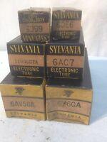 Vintage lot of 6 SYLVAINIA Radio Vacume Tube Radio Parts Repair Tube TV