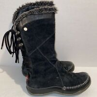 North Face Black Janey Apres Snow Moccasin Boots Primaloft Insulated Womens 6.5