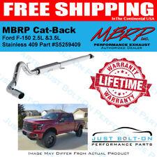 """MBRP 4"""" Cat-Back Exhaust 409 2015-16-17-18-19 F150 2.7L & 3.5L EcoBoost S5259409"""