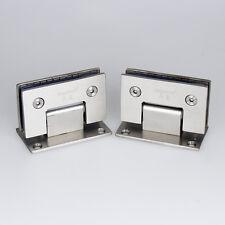 A Pair Stainless Steel 90° Frameless Wall to Glass Shower Door Hinge Bracket
