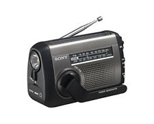 SONY ICF-B99 S FM/AM Portable Radio Hand-Cranked & Solar Charging Built-in LED