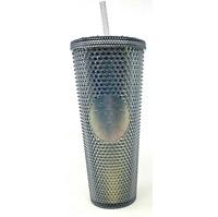 Starbucks 2020 Fall Studded Tumbler Black Iridescent Cold Cup 24 Oz
