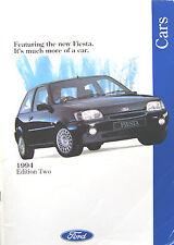 Ford Cars 1994 Edition 2 Escort Mondeo Fiesta Granada Original Sales Brochure