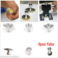 6 Pcs Aluminum PDR Glue Puller Tabs Car Body Dent Repair Hail Removal Tool PAD