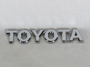 TOYOTA EMBLEM CAMRY AVALON SOLARA REAR TRUNK OEM CHROME BADGE sign symbol logo