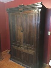 Massive Antique Linen Press Pantry Cupboard Armoire Cabinet