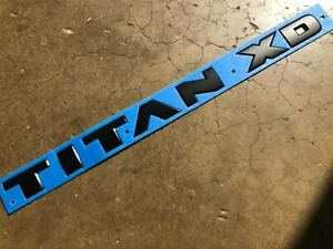 "NEW OEM NISSAN TITAN MIDNIGHT BLACK DOOR EMBLEM ""TITAN XD"""
