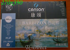 20x Pad of Canson Drawing Watercolor Pad, 20 sheets, 270mmx390mm 1.6x A4 300gsm