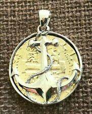 ATOCHA Coin Design Pendant 1600-1700  Gold  Coin Silver Anchor Treasure Jewelry