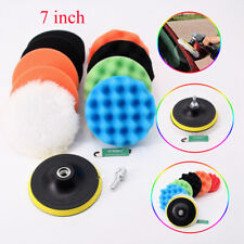 11pcs 7'' Buffing Waxing Polishing Sponge Pads Kit Set for Car Polisher 180mm AU