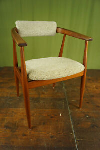 Vintage Teak Chair Danish Modern Retro Dining Room Desk Armchair 60er