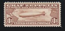 US C14 $1.30 Graf Zeppelin Airmail Mint VF-XF OG H SCV $360