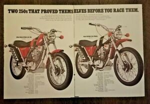 Vintage Ad 1971 BSA Gold Star 500 MX Motocross British Are Coming Victor 500