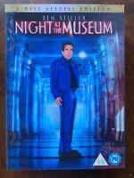 Night At The Museum DVD 2006 Ben Stiller Comédie Film W/Lenticulaire Housse
