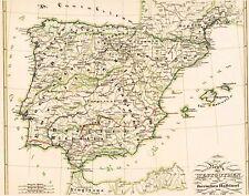 Genuina 171 die am antigua mapa de españa Asturias Lusitania galicia taracona 1846
