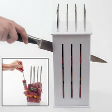 16Hole Barbecue BBQ Meat Skewer Maker Box Beef Tool W/Stainless Steel Kebab