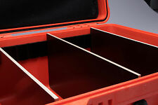PELI 1560 Case Trolley ORANGE mit Deckeleinteiler und Trennwandsystem