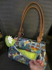 Lily Bloom DOG purse recycled plastic TONS OF POCKETS neon green inside