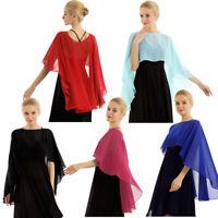 Womens Chiffon Sheer Shawl Wrap Evening Formal Summer Jacket Cardigan Blouse Top