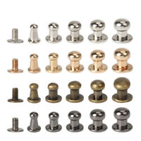 50pcs Solid Brass Round Head Stud Screwback Leather Bag Chicago Screw Nail Rivet