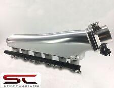 2JZ GTE TIG WELDED SHEETMETAL FABRICATED INTAKE SUPRA W/90mm THROTTLE BODY