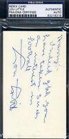 Lou Little Psa/dna Signed College Footbal Hof 3x5 Index Card Autograph Authentic