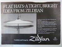 retro magazine advert 1981 ZILDJIAN flat hats