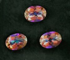 ONE 8x6 Checkerboard Oval Mystic Orange Rainbow Topaz Gem Gemstone 8mm x 6mm