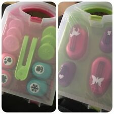 Crelando Craft Paper Punch And Stamp Set 1 Set Green Or Pink?!!!!