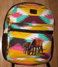 Girls HORSES Backpack~BillaBong~2 Compartment~NWT~SW~LapTop Sleeve~School~