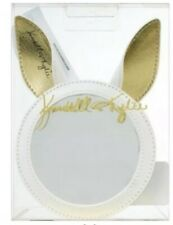 Kendall + Kylie  Cosmetic Mirror White /Gold Bunny Ear Fluffy Cute New