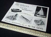 1955 Vintage Original Micromodels Leaflet Catalogue Maori Models & Bluebottle