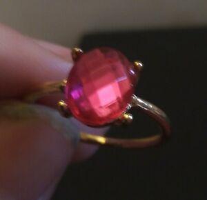 Natural paradapascha Sapphire Gemstone gold filled Ring Jewelry Sz N1/2