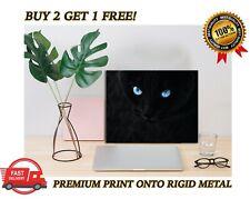 Cute Black Cat Blue Eyes METAL Poster Art Print Plaque Gift