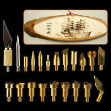 22pcs/set Wood Burning Tool Kit Craft Set Soldering Brass Pyrography Pen Ar C1L1