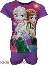 Vêtements ensemble pyjama violets pour fille de 5 à 6 ans