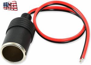 Car Cigarette Lighter Female Socket Adapter Plug 12V 24V Connector Outlet Cable