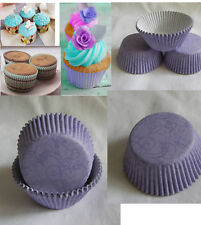 100 swirl lavender cupcake liners baking paper cup standard size wedding favor